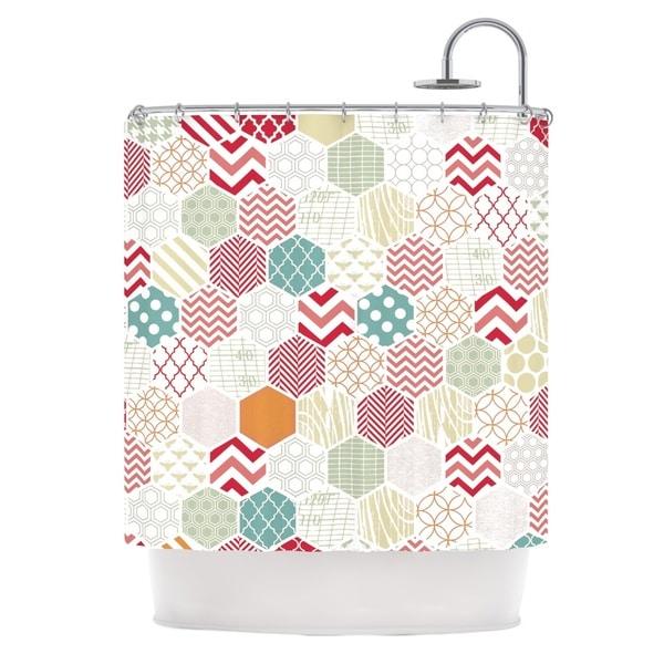 "KESS InHouse Heidi Jennings ""Geo Pastel"" Geometric Shower Curtain (69x70) - 69 x 70"