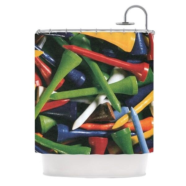 KESS InHouse Heidi Jennings Tee'd Off Multicolor Shower Curtain (69x70)