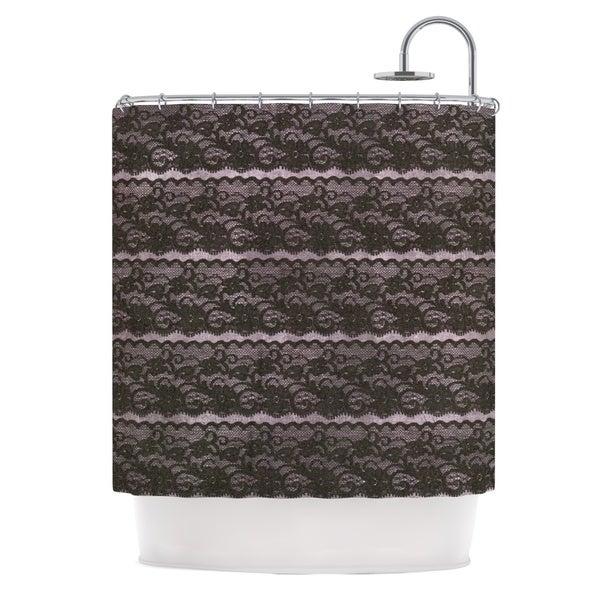 KESS InHouse Heidi Jennings Black Lace Gray Shower Curtain (69x70)