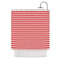 KESS InHouse Heidi Jennings Feeling Festive Red White Shower Curtain (69x70)