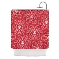 KESS InHouse Heidi Jennings Christmas Spirit Red Shower Curtain (69x70)