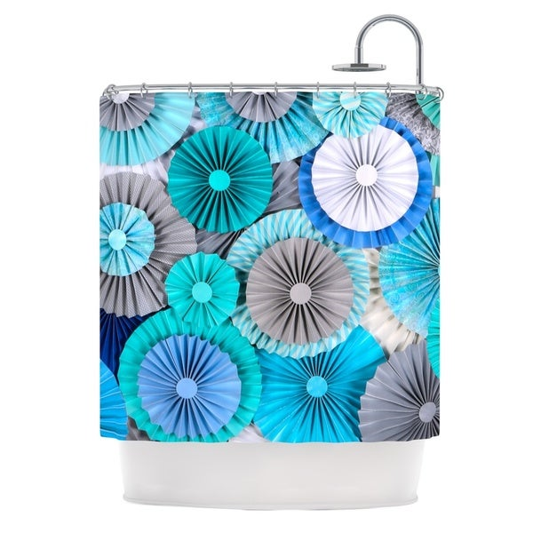 KESS InHouse Heidi Jennings Brunch at Tiffany's Aqua Blue Shower Curtain (69x70)