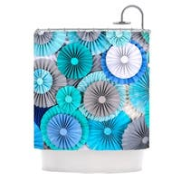 KESS InHouse Heidi Jennings Brunch at Tiffany's Aqua Blue Shower Curtain (69x70)