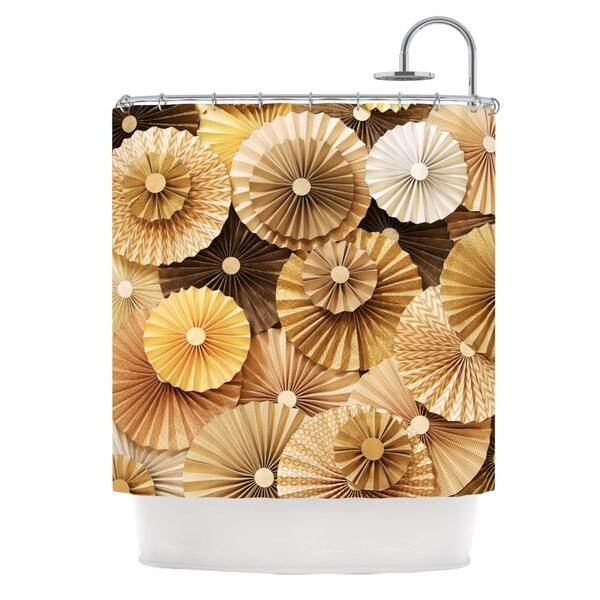 KESS InHouse Heidi Jennings Caramel Latte Yellow Gold Shower Curtain (69x70)