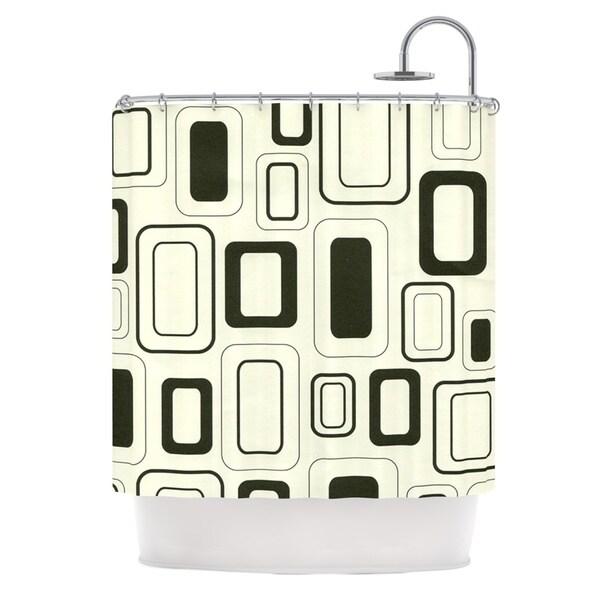 KESS InHouse Heidi Jennings Cubes For Days Neutral White Shower Curtain (69x70)