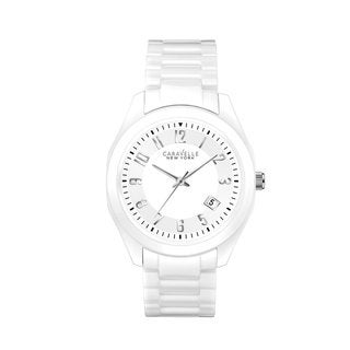 Caravelle Women's 45M107 Ceramic and Stainless Steel White Water Resistant Watch