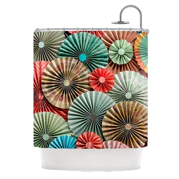KESS InHouse Heidi Jennings Sherbert Teal Brown Shower Curtain (69x70)