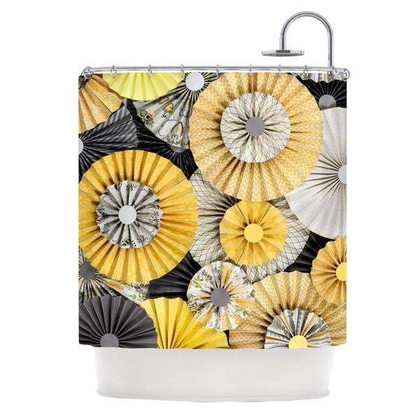 KESS InHouse Heidi Jennings Daffodil Yellow Black Shower Curtain (69x70)