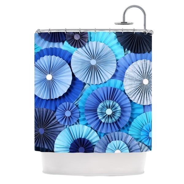 KESS InHouse Heidi Jennings Blue Lagoon Aqua Navy Shower Curtain (69x70)