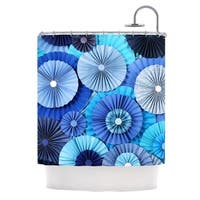KESS InHouse Heidi Jennings Blue Lagoon Aqua Navy Shower Curtain (69x70)