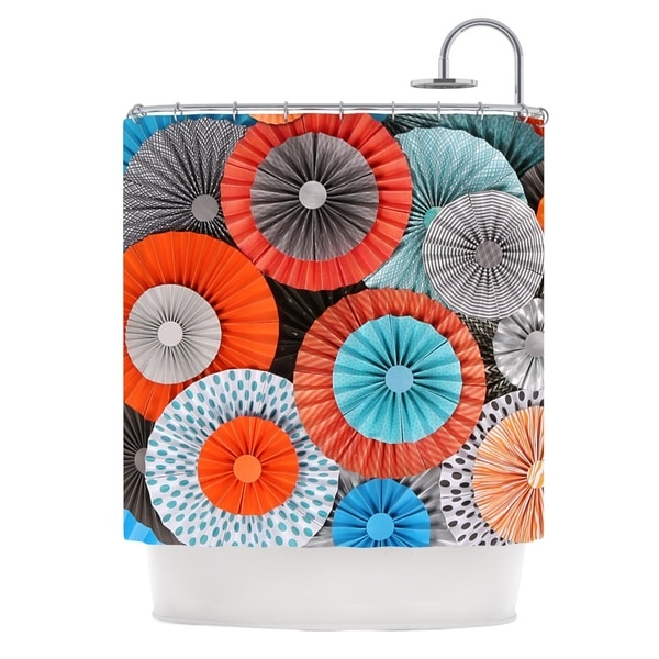 KESS InHouse Heidi Jennings Breaking Free Orange Blue Shower Curtain (69x70)