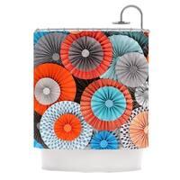 KESS InHouse Heidi Jennings Breaking Free Orange Blue Shower Curtain (69x70)