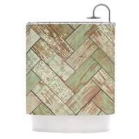 KESS InHouse Heidi Jennings Patina Green Wood Shower Curtain (69x70)