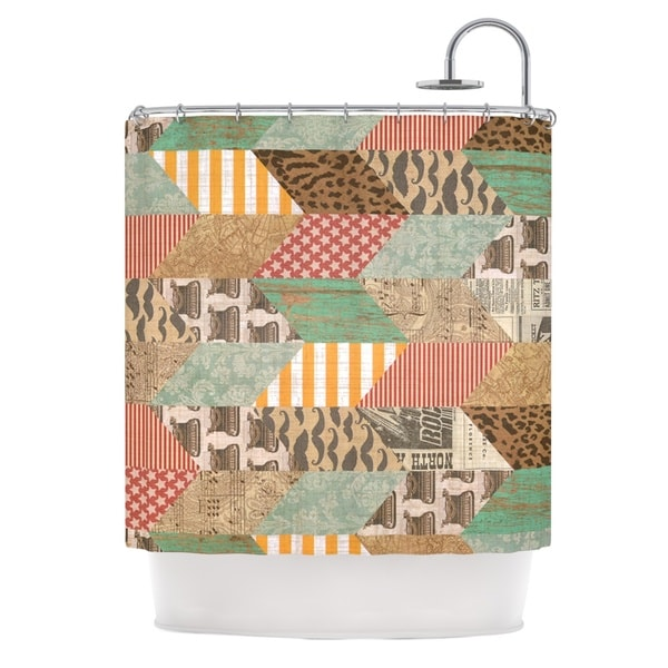 KESS InHouse Heidi Jennings Hodge Podge Vintage Texture Shower Curtain (69x70)