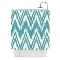 KESS InHouse Heidi Jennings Tribal Chevron Aqua Shower Curtain (69x70)