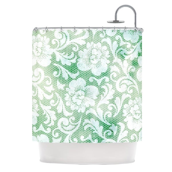 KESS InHouse Heidi Jennings Daydreaming Green Floral Shower Curtain (69x70)