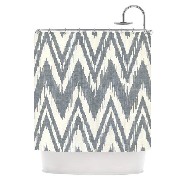 KESS InHouse Heidi Jennings Tribal Chevron Gray Shower Curtain (69x70)
