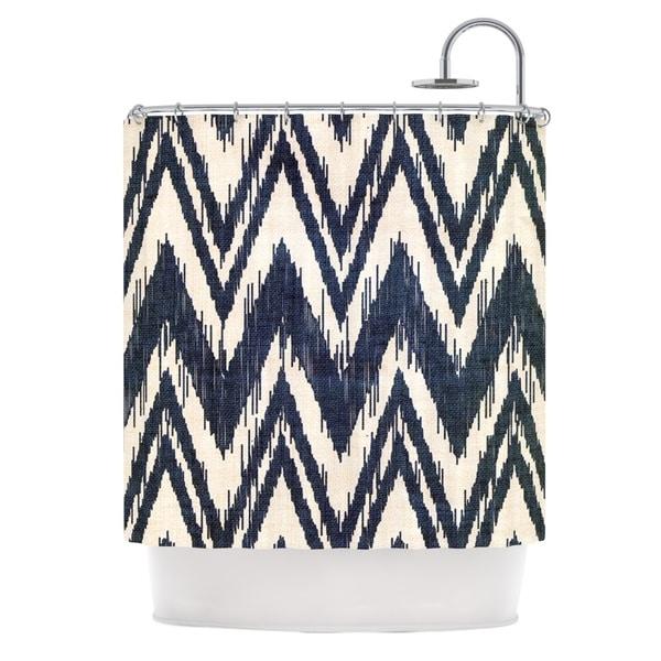 KESS InHouse Heidi Jennings Tribal Chevron Black Shower Curtain (69x70)