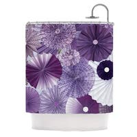 KESS InHouse Heidi Jennings Lavender Wishes Purple Shower Curtain (69x70)