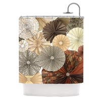 KESS InHouse Heidi Jennings Dusty Road Brown Tan Shower Curtain (69x70)