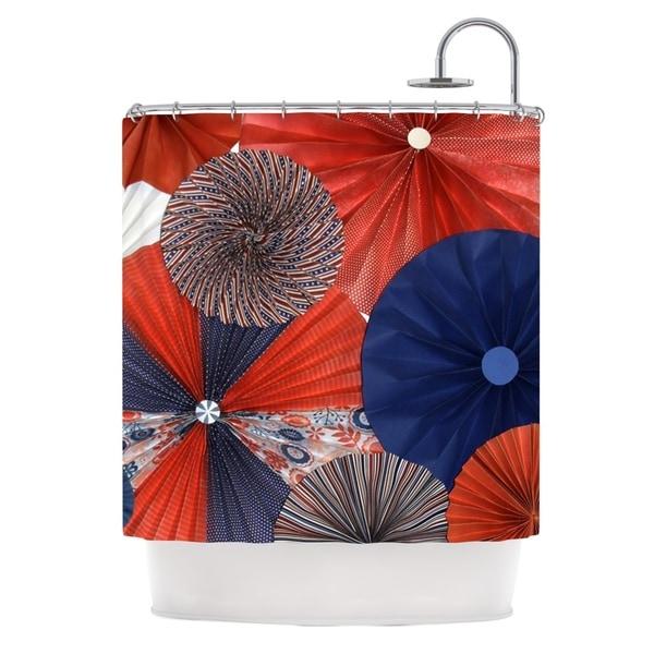 KESS InHouse Heidi Jennings Liberty Red Blue Shower Curtain (69x70)