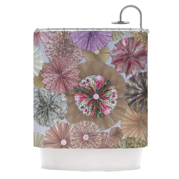 KESS InHouse Heidi Jennings Pink Lady Neutral Brown Shower Curtain (69x70)