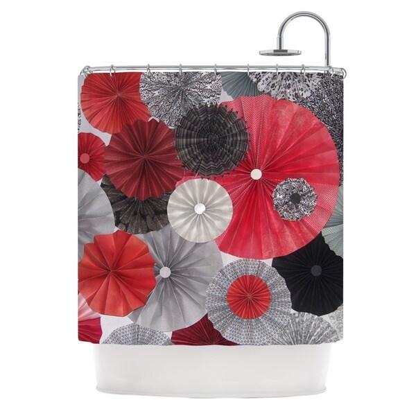 KESS InHouse Heidi Jennings Kyoto Red Black Shower Curtain (69x70)