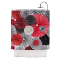 KESS InHouse Heidi Jennings Kyoto Red Black Shower Curtain (69x70)