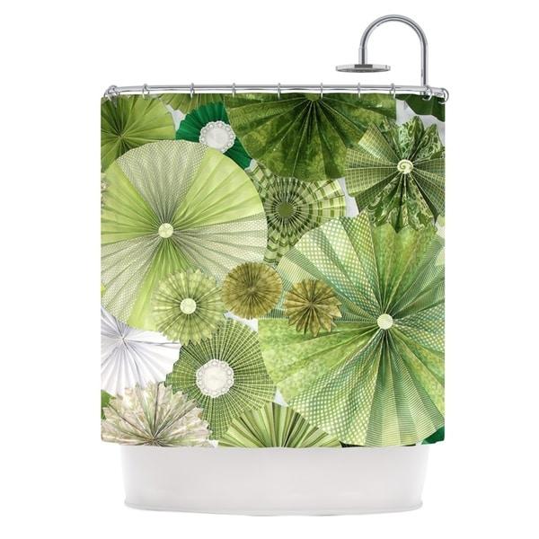 KESS InHouse Heidi Jennings Green Thumb Lime Shower Curtain 69x70