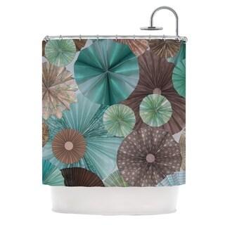 KESS InHouse Heidi Jennings Atlantis Teal Brown Shower Curtain (69x70)