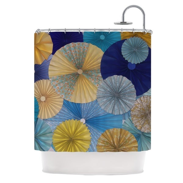 KESS InHouse Heidi Jennings Suspension Gold Blue Shower Curtain (69x70)