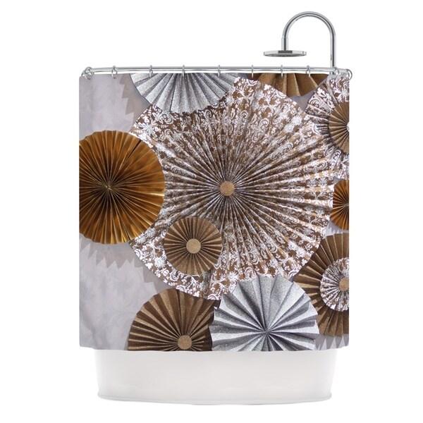 KESS InHouse Heidi Jennings Venice Brown White Shower Curtain (69x70)