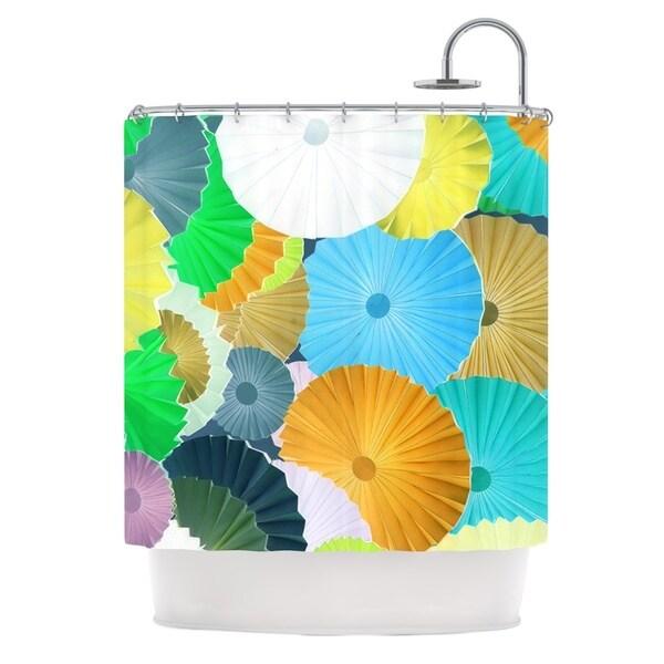 KESS InHouse Heidi Jennings Curiousity Cool Blue Shower Curtain (69x70)