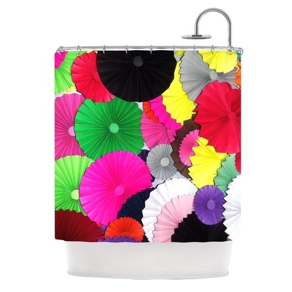 KESS InHouse Heidi Jennings Tempting Multicolored Circles Shower Curtain (69x70)