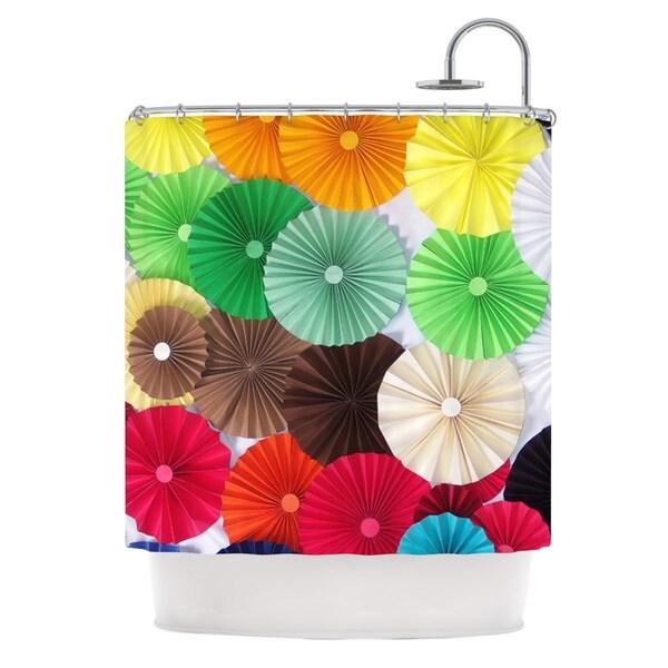 KESS InHouse Heidi Jennings Atonement Green Brown Shower Curtain (69x70)