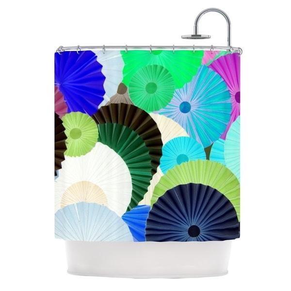 KESS InHouse Heidi Jennings Wonderland Teal Paper Shower Curtain (69x70)