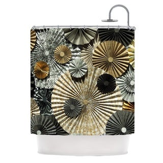 KESS InHouse Heidi Jennings All That Glitters Brown Glitter Shower Curtain (69x70)