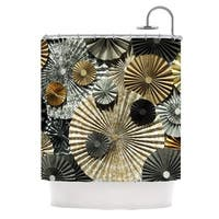 KESS InHouse Heidi Jennings All That Glitters Brown Glitter Shower Curtain (69x70)