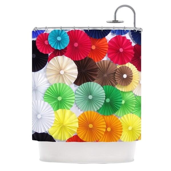 KESS InHouse Heidi Jennings Adored Colored Circles Shower Curtain (69x70)