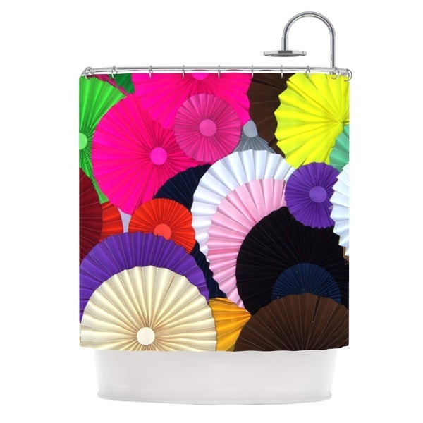 KESS InHouse Heidi Jennings Madness Rainbow Circle Shower Curtain (69x70)
