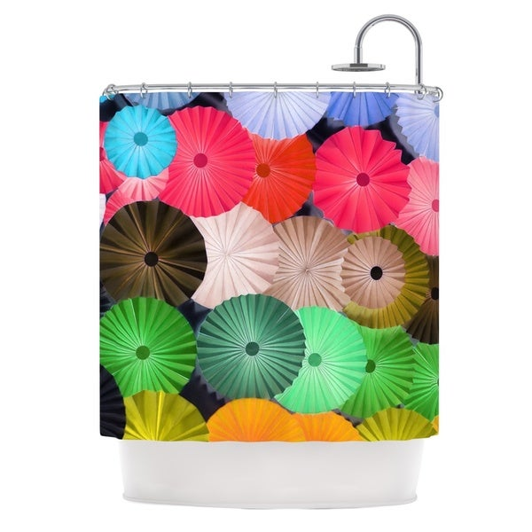 KESS InHouse Heidi Jennings Parasol Paper Circle Shower Curtain (69x70)