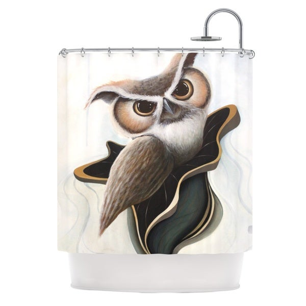 KESS InHouse Graham Curran Lucid June Brown Owl Shower Curtain (69x70)