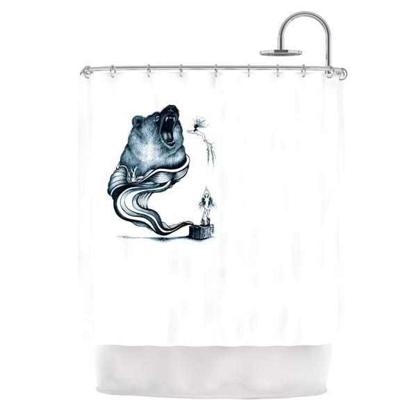 KESS InHouse Graham Curran Hot Tub Hunter Shower Curtain (69x70)