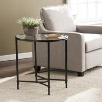 Harper Blvd Quaker Metal/Glass Oval Side Table - Black