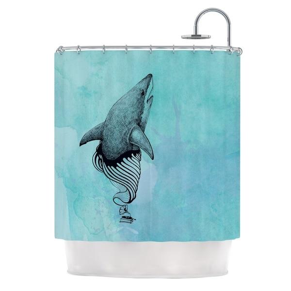 KESS InHouse Graham Curran Shark Record III Shower Curtain (69x70)
