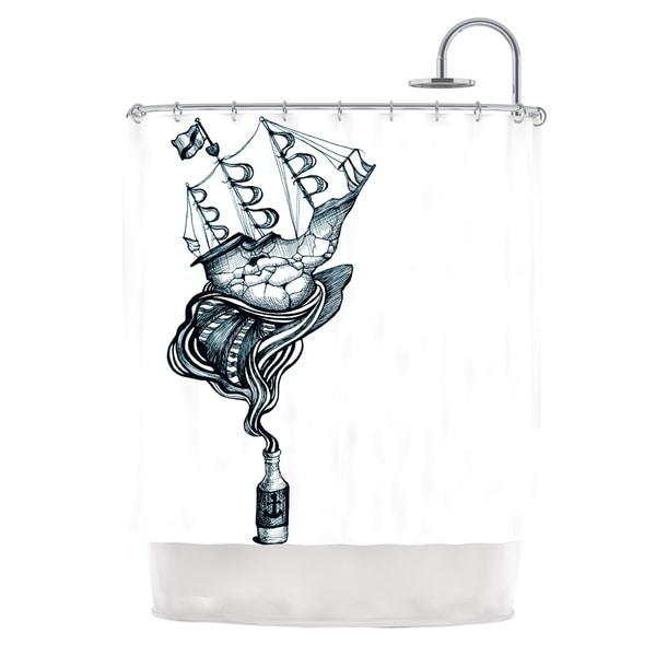KESS InHouse Graham Curran All Aboard Shower Curtain (69x70)
