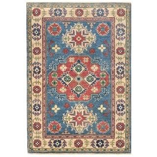 Herat Oriental Afghan Hand-knotted Vegetable Dye Tribal Kazak Wool Rug (2'7 x 3'9)