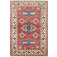 Handmade Herat Oriental Afghan Vegetable Dye Tribal Kazak Wool Rug - 2'8 x 4' (Afghanistan)
