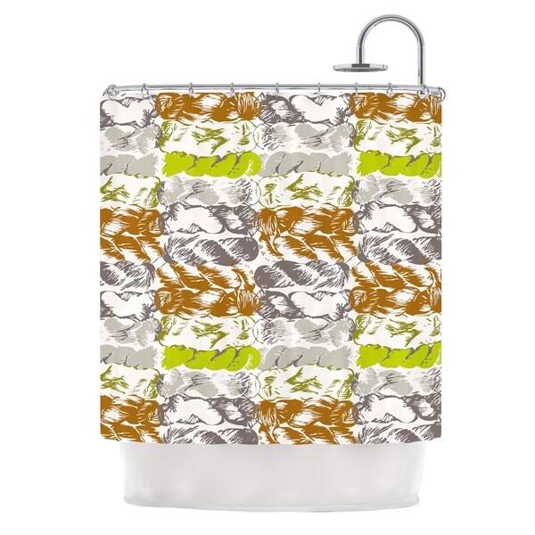 KESS InHouse Fernanda Sternieri Nice Knot Gray Orange Shower Curtain (69x70)