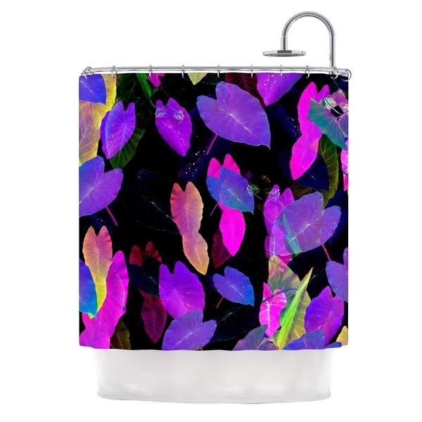 KESS InHouse Fernanda Sternieri Fluo Jungle Purple Black Shower Curtain (69x70)